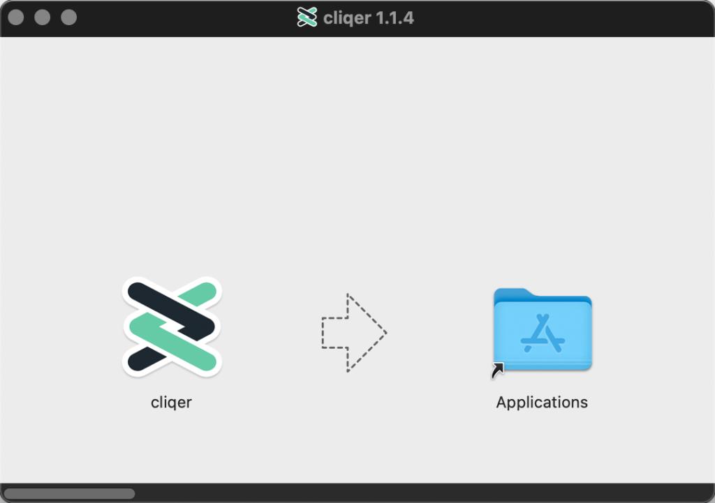 Cliqer Installation Mac Step 01